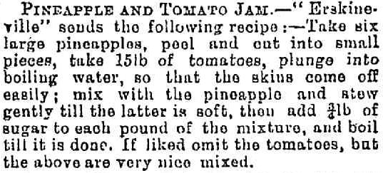 Erskineville Pineapple and Tomato Jam