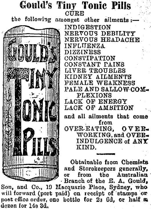 Goulds Tiny Tonic Pills