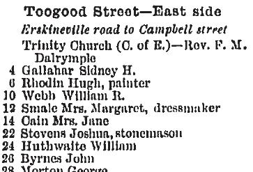 Toogood 1903