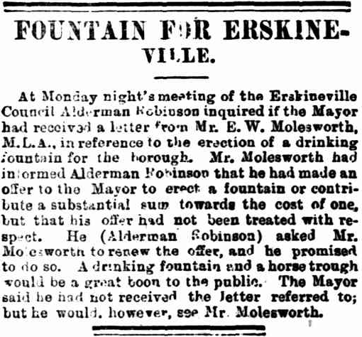 Fountain for Erskineville