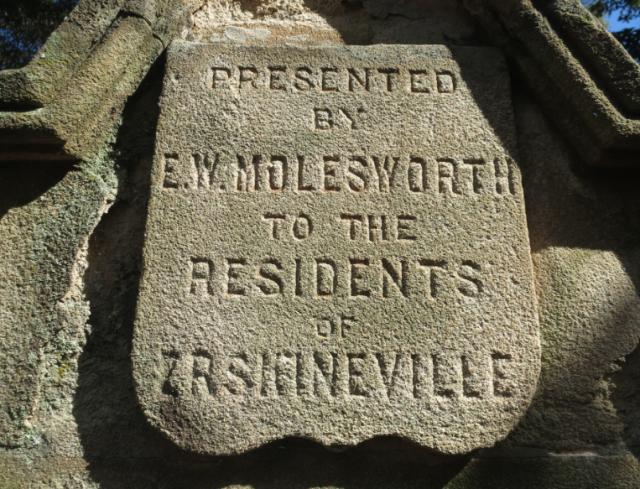 Roadside inscription Erskineville Fountain