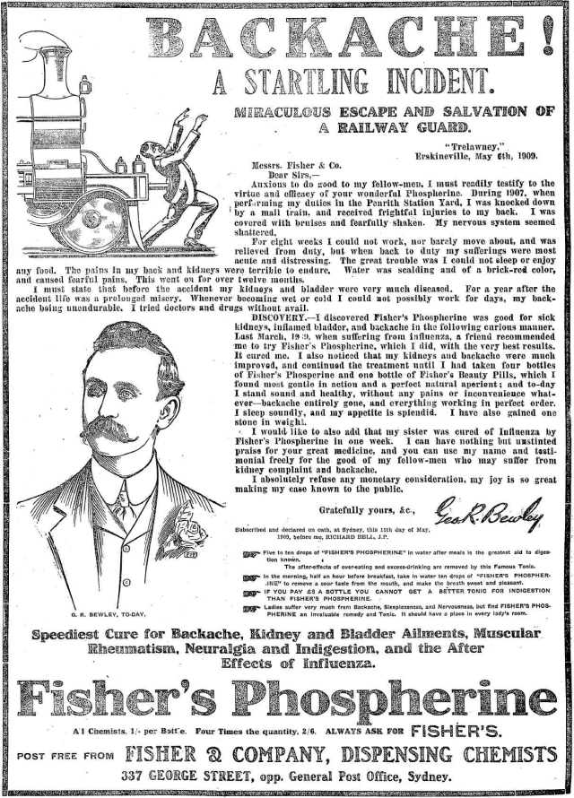 Fisher's Phospherine advertisement 1909.png