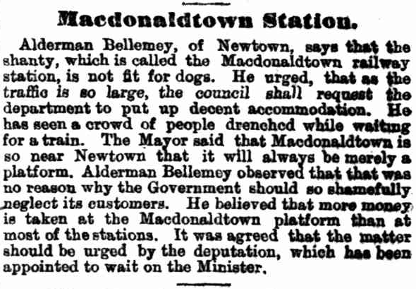 Macdonaldtown Station Not Fit For Dogs