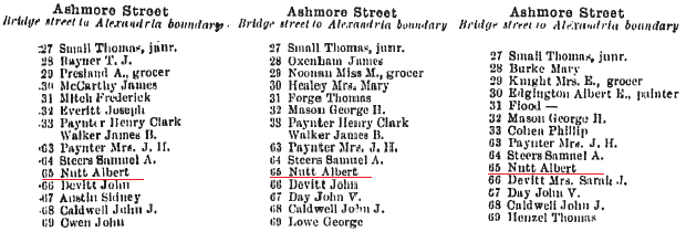 Ashmore Sands Directory Extract 1912-14