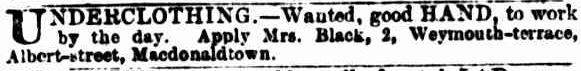 Weymouth Terrace Macdonaldtown 1880