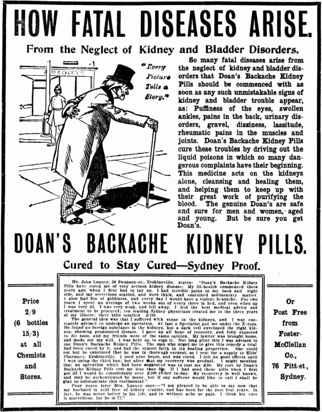 Cured to Stay Cured John Loaney Doans backache.png