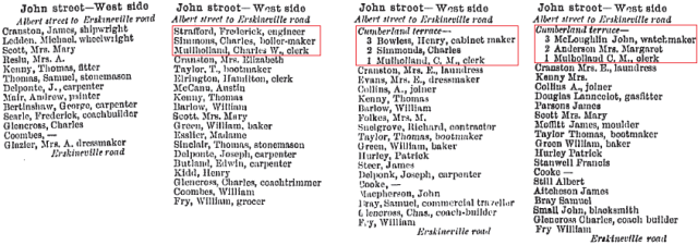 Chamberlain Terrace Erskineville 1884 to 1887.png