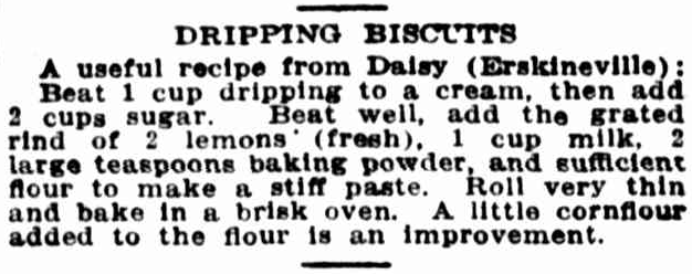 Erskineville Dripping Biscuits