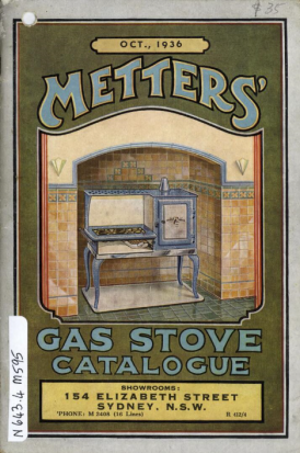 1936 Metters' Gas Stove Catalogue