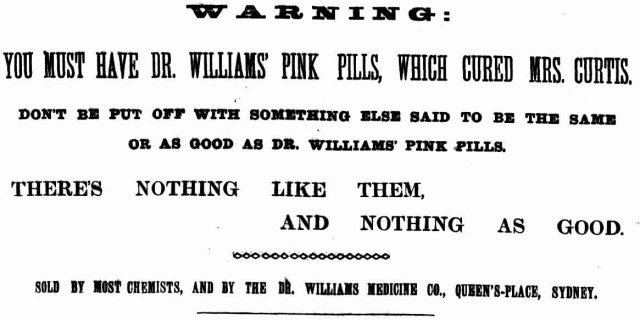 Dr Williams Pink Pills - There's nothing like them