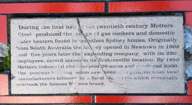 Metters History - Erskineville Road