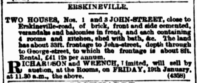 1 and 3 John Street Erskineville 1900.png