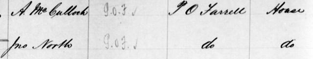 Macdonaldtown Assessment Book Extract 1884