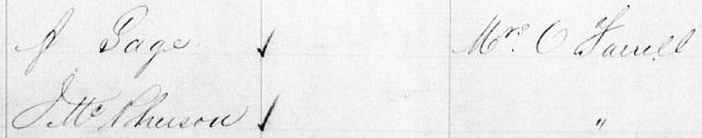 Macdonaldtown Assessment Book Extract 1886
