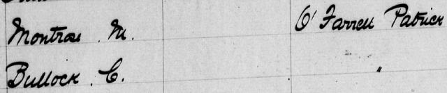 Macdonaldtown Assessment Book Extract 1889