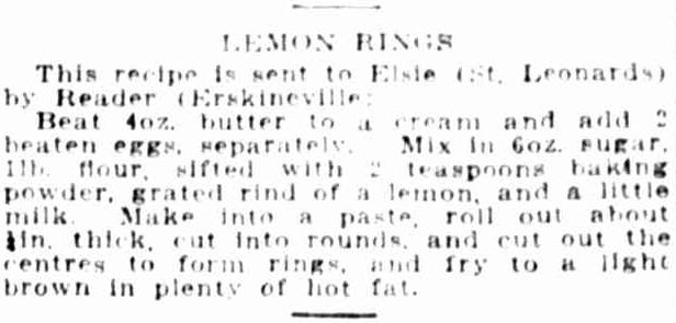 Lemon Rings recipe 1920s.png