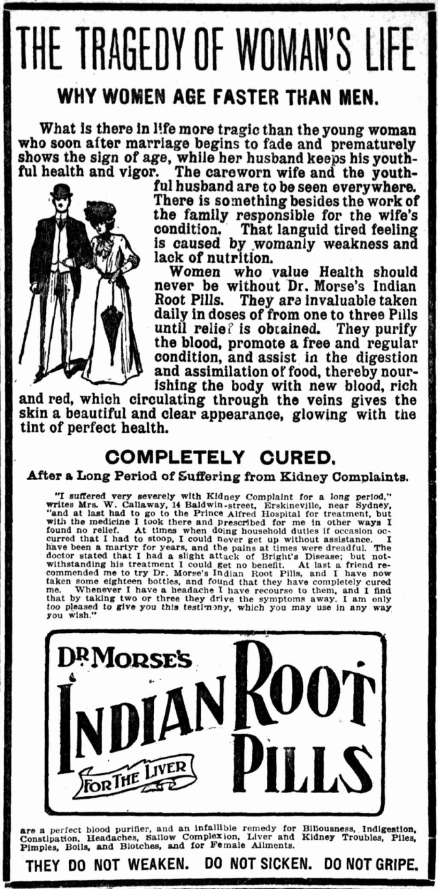 Dr Morse's Indian Root Pills - Why women age faster than men