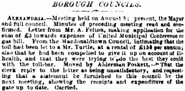 Extract Alexandria Borough Council Meeting Report  30.08.1883.png