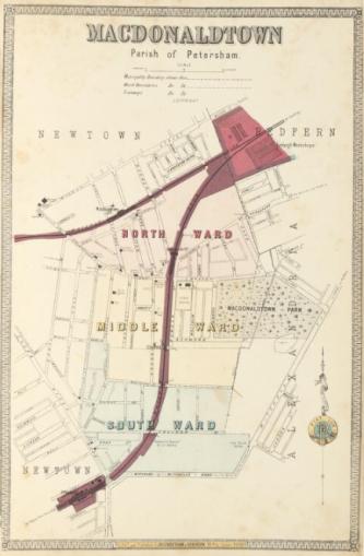 Macdonaldtown, Parish of Petersham Higinbotham, Robinson & Harrison 1886