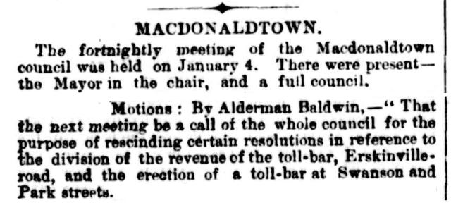 Macdonaldtown Toll bar Park Street Swanson Street 1889.png