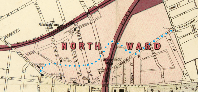 Extract of map Macdonaldtown Parish of Petersham North Ward.png