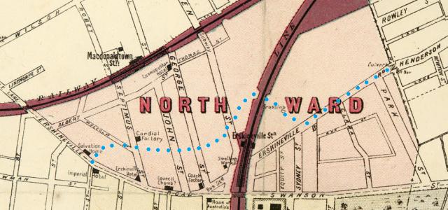 Extract of map Macdonaldtown Parish of Petersham North Ward.png