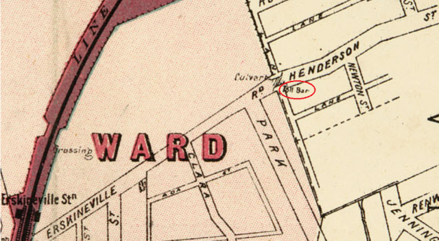 Extract of map Macdonaldtown Parish of Petersham Toll bar.png