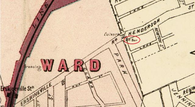 Extract of map Macdonaldtown Parish of Petersham Toll bar.png
