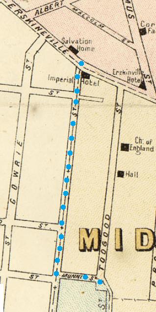 Extract of map Macdonaldtown Parish of Petersham Union Street.png