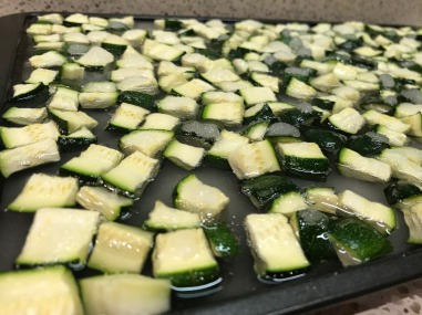 Zucchini and sugar after 12 hours