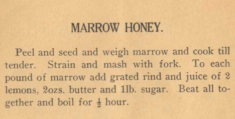 War Economy Recipe Book Marrow Honey Recipe