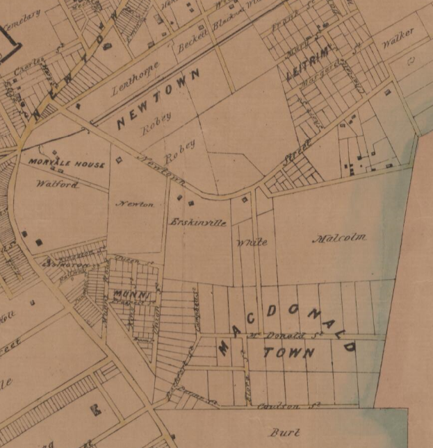 Extract Reuss & Browne's map of the subdivisions in and about Sydney and environs - 1857.png