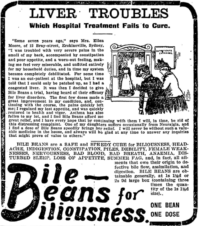 Liver Troubles Bile Beans Erskineville 1905.png