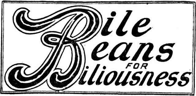 Bile Beans for Biliousness