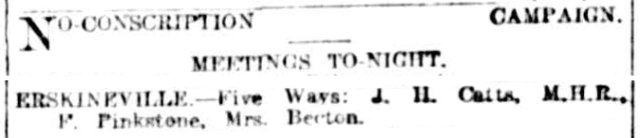 No conscription Erskineville Five Ways 1917.png