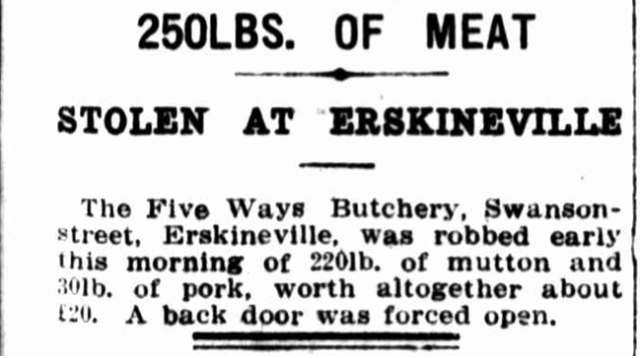 1920 stolen at Erskineville Five Ways