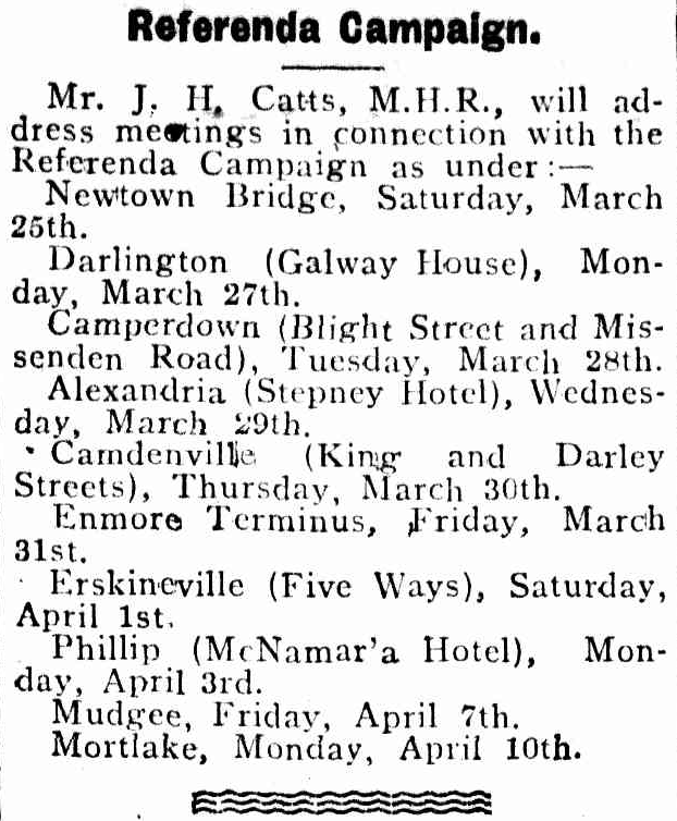 Erskineville Five Ways 1911 Referenda Campaign.png